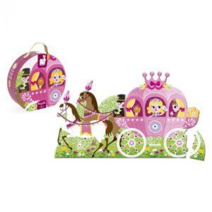Janod Hat Boxed 39 Piece Princess' Coach Floor Puzzle