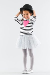 Bob and Blossom Black Breton Stripe Heart Top