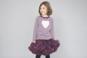 Bob and Blossom Plum Breton Stripe Heart Top