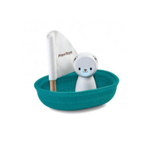 Plan Toys Wooden Polar Bear Bath Boat