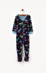 Hatley Winter Sports T-Rex Footed Coverall