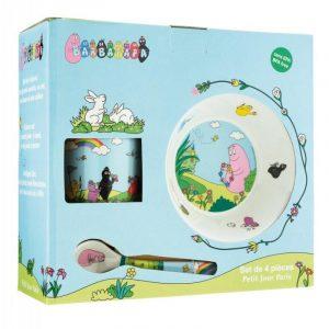 Petit Jour Barbapapa 4 Piece Toddler Baby Feeding Set