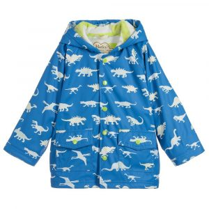 Hatley Blue Colour Changing Dinosaur Menagerie Raincoat