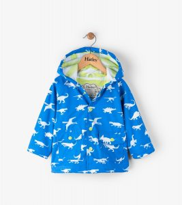 Hatley Blue Dinosaur Menagerie Colour Change Mini Raincoat