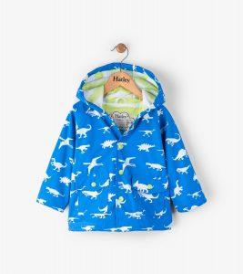 Hatley Blue Dinosaur Menagerie Colour Change Mini Raincoat