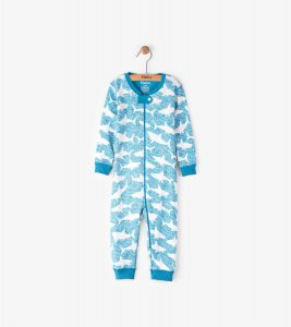 Hatley Teal Shark Alley Mini Coverall