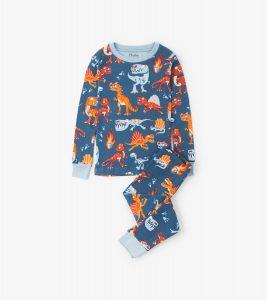 Hatley Navy Volcanos and Dinos Long Pyjamas