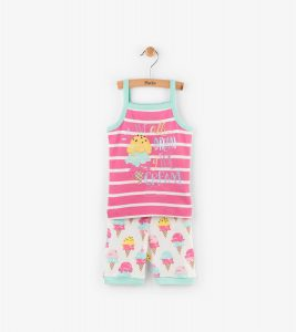 Hatley Pink Ice Cream Treats Sleeveless Pyjamas