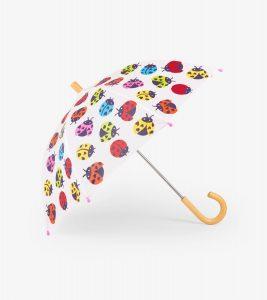 Hatley White Rainbow Ladybirds Umbrella