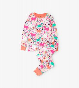 Hatley Pink Roaming Horses Long Sleeve Pyjamas
