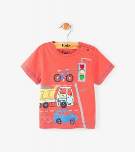 Hatley Red Intersection Fire Corallium Mini Tee Shirt