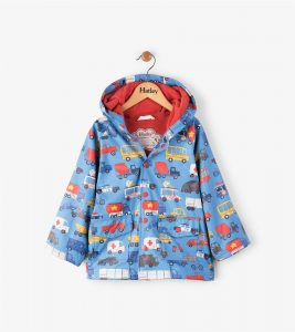 Hatley Blue Rush Hour Waterproof Raincoat