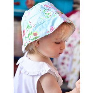 Powell Craft Blue Floral Print Hat 0-3 Years