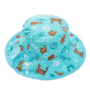 Banz Reversible UV Bucket Sun Hat - Blue Sea Life Age 0-2 years