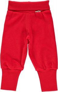 Maxomorra Basic Red Rib Pants