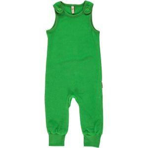 Maxomorra Green Velour Playsuit Dunagrees