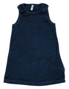 Maxomorra Dark Blue Velour Pinafore Dress