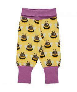 Maxomorra Bumblebee Print Rib Pants