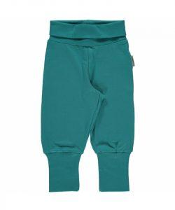 Maxomorra Soft Petrol Basic Rib Pants