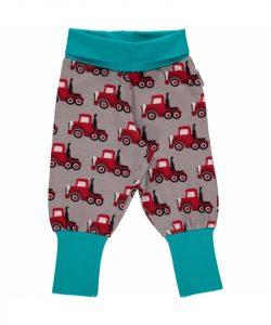 Maxomorra Grey Truck Print Rib pants