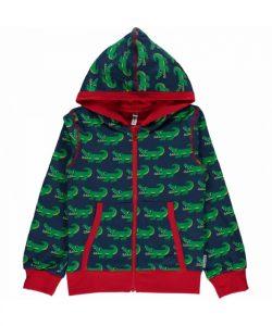 Maxomorra Crocodile Zip Hooded Cardigan