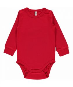 Maxomorra Basic Red Long Sleeve Body