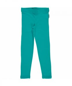 Maxomorra Turquoise Basic Leggings