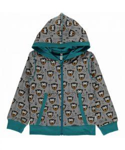 Maxomorra Plus Little Arrow Monkey Zip Hooded Cardigan