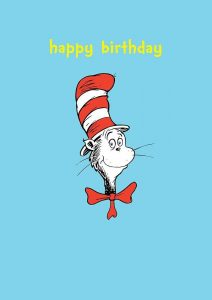 Hype Cat in the Hat Happy Birthday Card