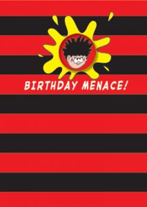 Hype Dennis the Menace Happy Birthday Badge Card