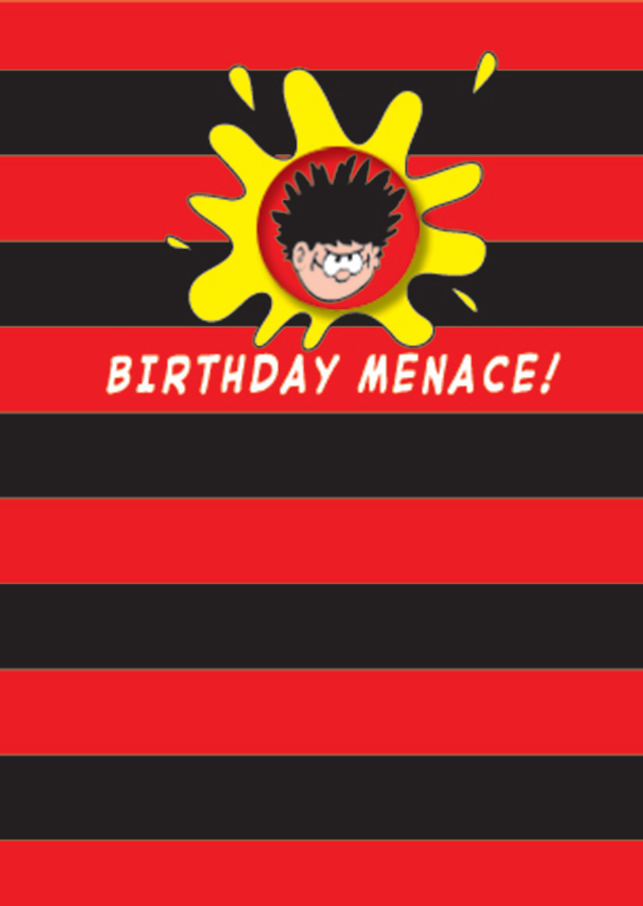 Hype Dennis The Menace Happy Birthday Badge Card Catfish Kids