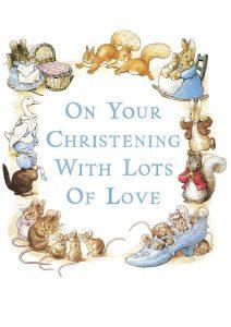 Hype Peter Rabbit Blue Christening Card