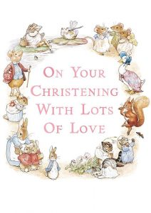 Hype Peter Rabbit Pink Christening Card