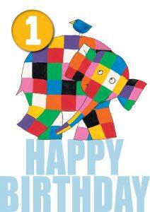 Hype Elmer Happy Birthday Badge Card Age 1