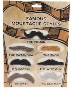 Famous Moustache Styles Set