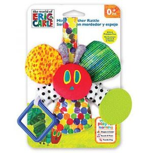 Rainbow Designs Very Hungry Caterpiller Mirror Teether Rattle