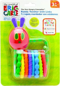 Rainbow Designs Very Hungry Caterpillar Rattle Teether with Links