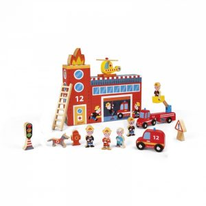 Janod Wooden Story Box Firefighters