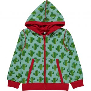 Maxomorra Cactus Organic Cotton Hooded Cardigan