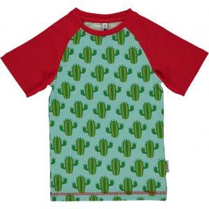 Maxomorra Cactus Organic Cotton Slim Fit Short Sleeve Top
