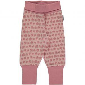 Maxomorra Elephants Organic Cotton Rib Pants