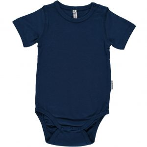 Maxomorra Dark Blue Organic Cotton Short Sleeve Body