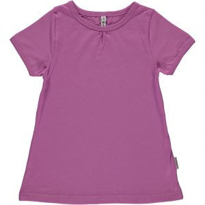 Maxomorra Pale Lilac Organic Cotton Short Sleeve A line Top