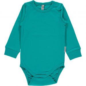 Maxomorra Turquoise Organic Cotton Long Sleeve Body