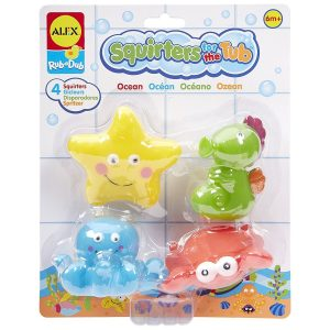Alex Ocean Squirters for the Tub Fun Bath Activity Toddler Toy New