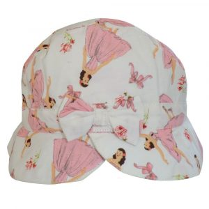 Powell Craft Ballerina Print Floral Sun Hat Small 0-3 years