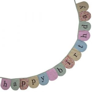 Powell Craft Handmade Happy Birthday Bunting