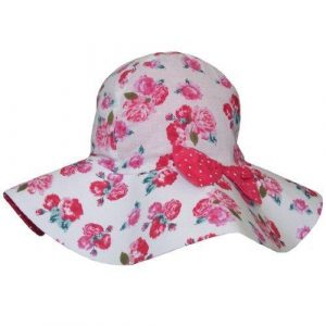 Powell Craft Handmade Reversible Red Rose Hat With Bow Large 3-5 years