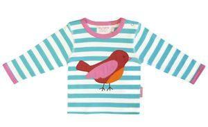 Toby Tiger Bird Applique Long Sleeve Top