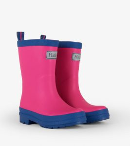 Hatley Fuchsia and Navy Matte Rain Boots